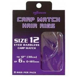 Haczyki DRENNAN CARP MATCH HAIR RIGS nr. 18