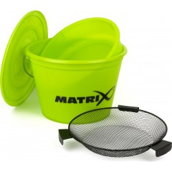 Wiadro z sitem Matrix Bucket Set Lime GBT020